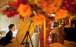 Is your luxury wedding still short on narcissism? Hire a live painter!